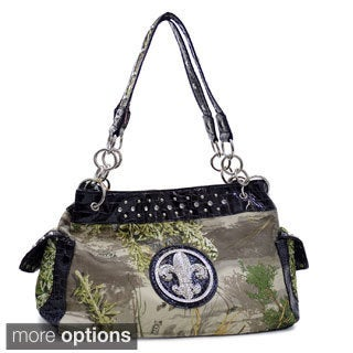 Realtree Camouflage Fleur de Lis Accent Shoulder Bag Handbag