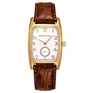 Hamilton Men's H13431553 'Boulton' Brown Leather Watch
