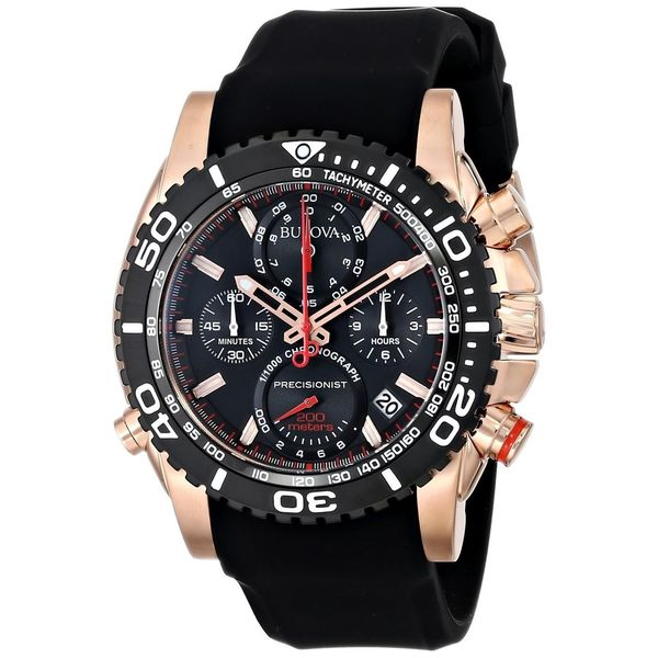 Bulova Men's 98B211 Precisionist Black Chronograph Watch