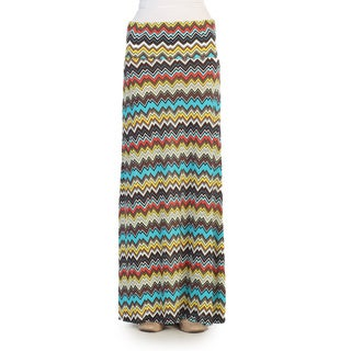 Hadari Women's Scribble Striped Maxi Skirt