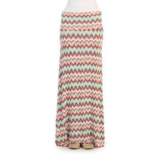 Hadari Women's Multi Zig-zag Maxi Skirt