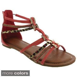 MACHI Women's Ankle Strappy Gladiator Sandals
