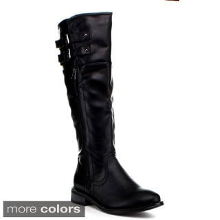 Jacobies Women's Round Toe Knee-high Boots