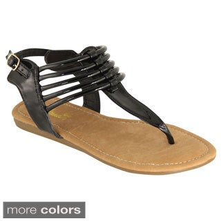 BellaMarie Women's Slingback Gladiator Sandals