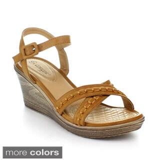 DBDK Women's Ankle Strap Platform Wedge
