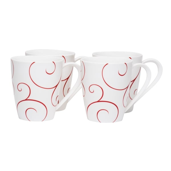 Red Vanilla Panache Rouge Mug (Set of 4)