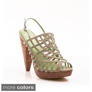 Envy Women's Shoe 'Steady' Caged Peep-toe Slingback Sandal