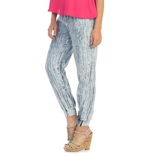 Hadari Women's Distressed Ankle Pants