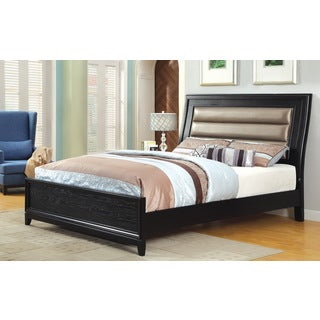 Furniture of America Pewter Padded Leatherette Bed