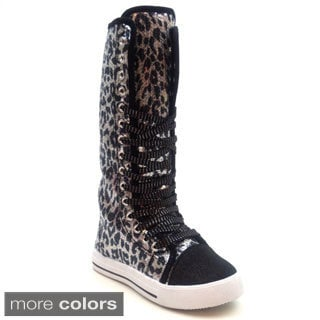 Blue Children's 'K-Congo' Knee-high Sneakers