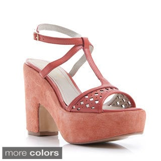 Nvy Women's Primrose T-strap Platform Sandal