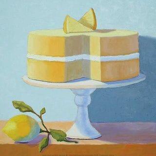 Patricia Doherty 'Double Layer Lemon Cake' Canvas Art