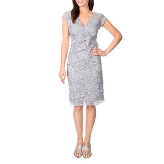 R & M Richards Women's Lace and Sequin Dress