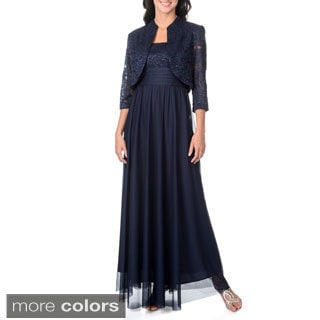 R & M Richards Women's Gown with Jacket