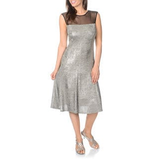 R & M Richards Women's Metallic Dress