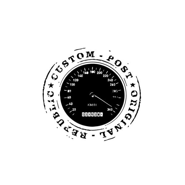 Post Office Speedometer Vinyl Wall Art