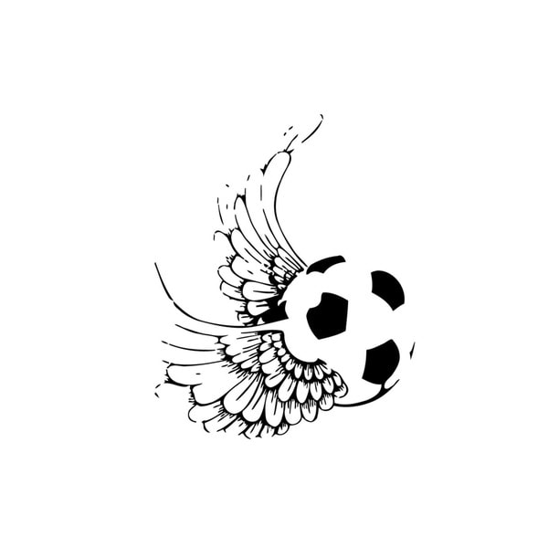 Soccer Ball with Wings Vinyl Wall Art