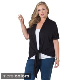 Sealed With a Kiss Women's Plus 'Grace' Solid Cardigan