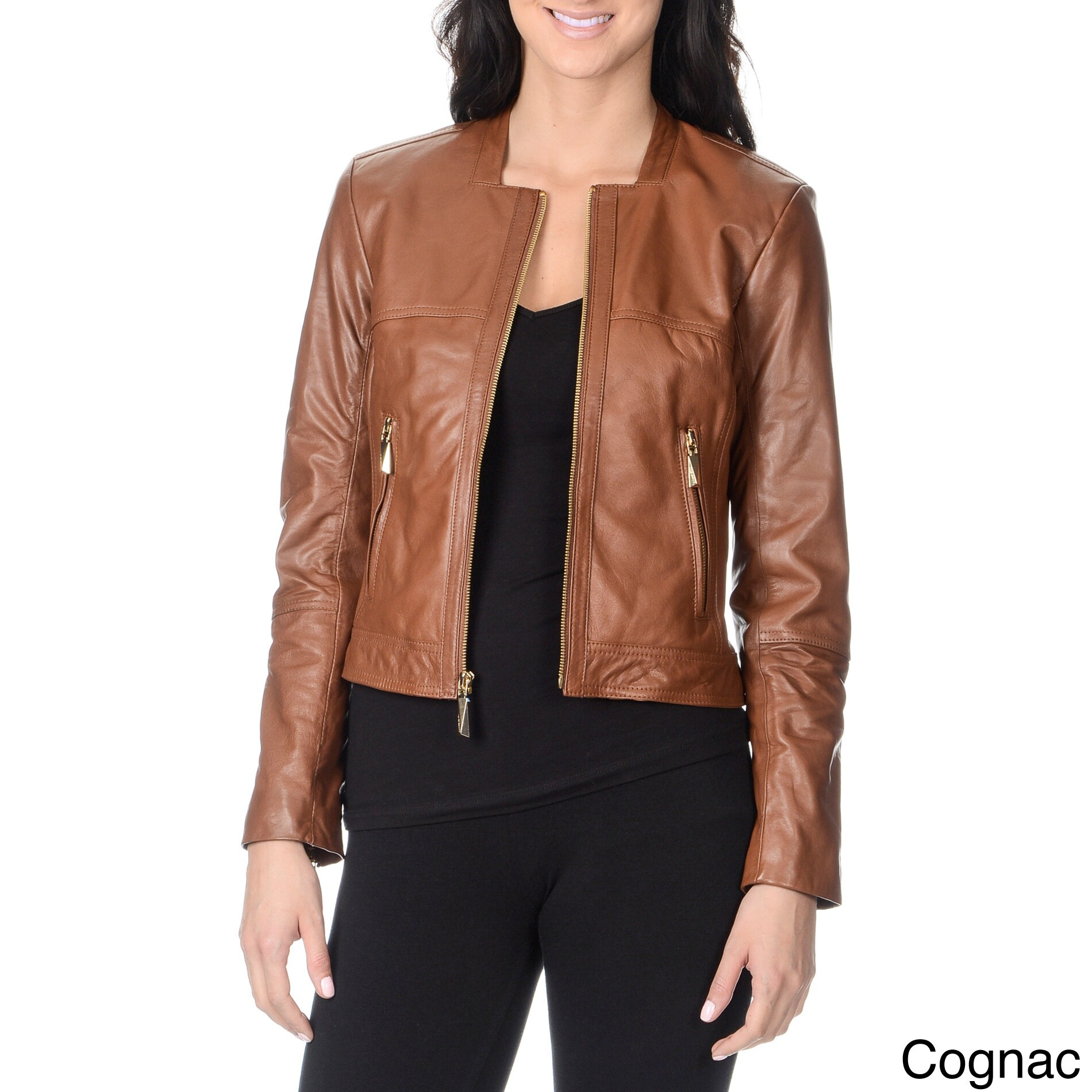 Vince Camuto Women's 100-percent Genuine Leather Fashion Jacket at Sears.com