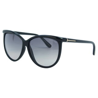 Tom Ford Women's FT0296 Josephine 01B Shiny Black Sunglasses