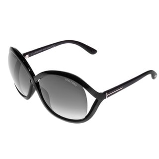 Tom Ford Women's FT0297 Sandra 01B Shiny Black Sunglasses