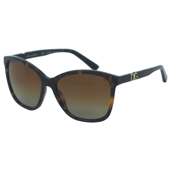Dolce & Gabbana Women's DG 4170P 502/T5 Transparent Havana Polarized Sunglasses