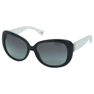 Coach Women's Laurin HC8076 5151/11 Black/ Crystal Sunglasses