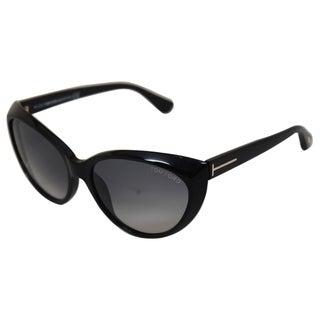 Tom Ford TF231 01B Martina Grey Gradient Lens Black Frame Sunglasses