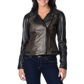Vince Camuto Women's 100-percent Genuine Leather Motorcycle Jacket