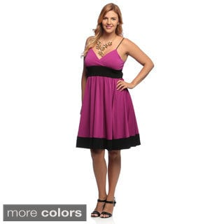 Evanese Women's Plus Size Jersey Cocktail Dress