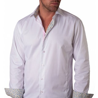 Men's Bardolino White Cotton Button-front Shirt
