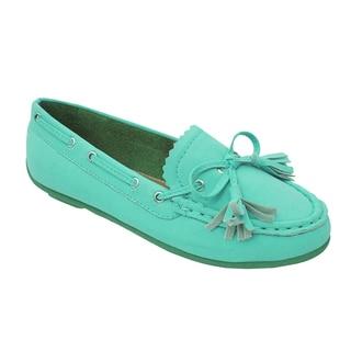 Yokids Girls 'Abbie K' Turquoise Boat Shoes