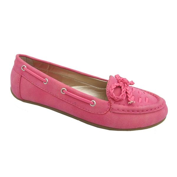 Yokids Girls 'Abbie 53K' Fuchsia Boat Shoes