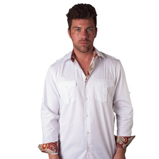 Men's Tribeca Cheetah Cotton Button Front Shirt