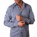Men's 'Calabria' Blue Gingham Button-front Shirt