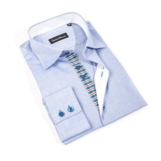 Men's 'Azzuro' Light Blue Button-front Shirt