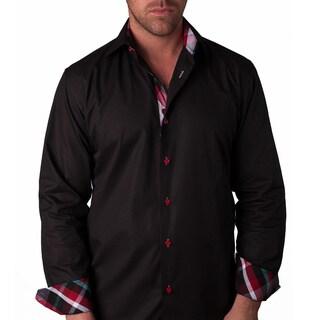 Men's 'GranTurismo' Black Button-front Shirt
