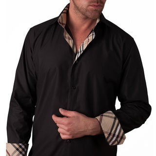 Men's 'Brixton Knight' Black Cotton Button-front Shirt