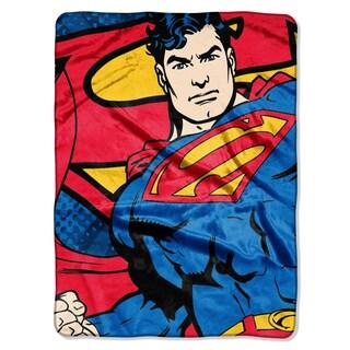 Superman Classic Hero Plush Throw Blanket