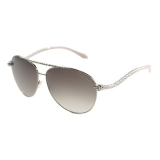 Roberto Cavalli Women's 'RC 899 Hoedus 34F' Shiny Light Bronze Aviator Sunglasses