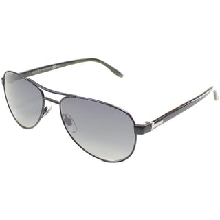 Gucci Unisex 'GG 2236 PDC' Semi Matte Black Metal Aviator Sunglasses