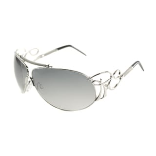 Roberto Cavalli Women's 'RC 850 Beid E98' Shiny Silver Fashion Sunglasses
