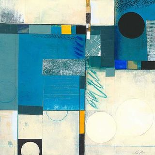 Deborah Colter 'Calypso Blue I' Canvas Art