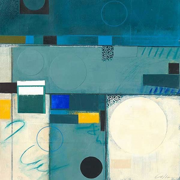 Deborah Colter 'Calypso Blue III' Canvas Art