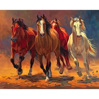 Nancy Davidson 'Hoofbeats and Heartbeats' Canvas Art