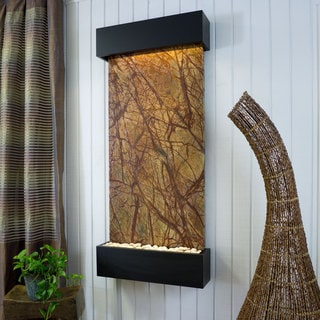 Rainforest Brown Marble Nojoqui Falls Classic Large with Black Onxy Trim