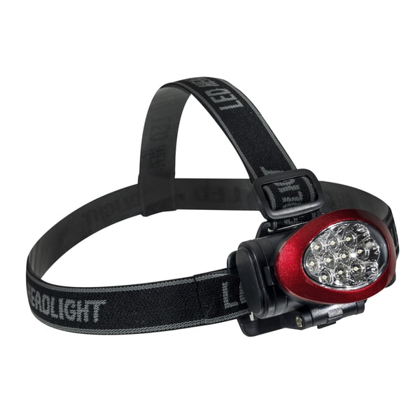 Go Green 10 LED Red Headlamp Headlight