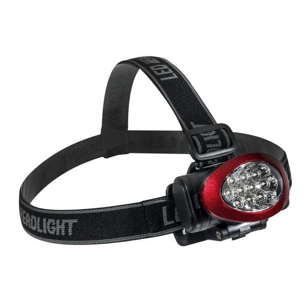 Go Green 10 LED Red Headlamp Headlight
