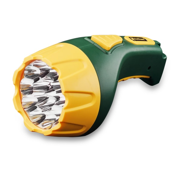 Go Green Powerful 15 LED Plug-in Rechargeable Flashlight