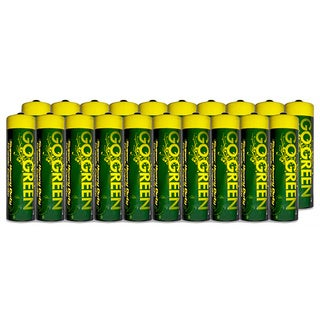 Go Green Heavy Duty AA Battery (20 Pack)